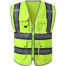 Patroon tape multi-pocket vest met warmteoverdracht